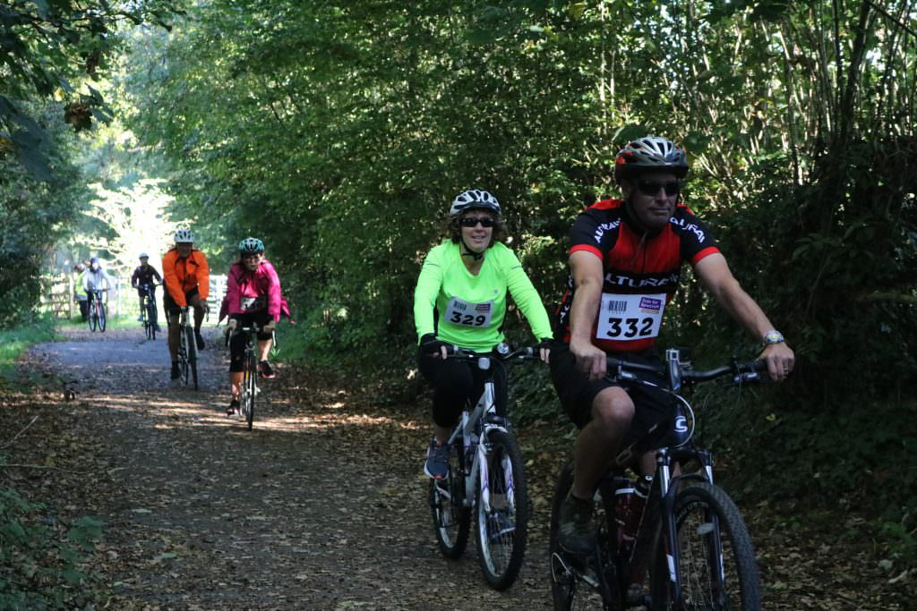Cyclists Participate in the Rowcroft Cycle Challenge