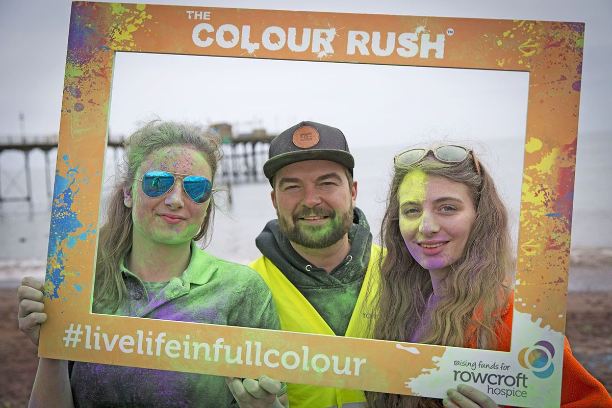 Rowcorft Hospice Colour Rush Volunteers