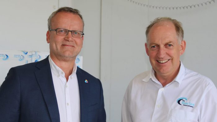 CEO Mark Hawkins and The Blue Seafood Company