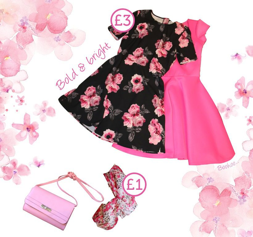 Retail pink and flowery