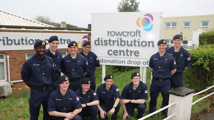 Navy Cadets Volunteer at Rowcroft