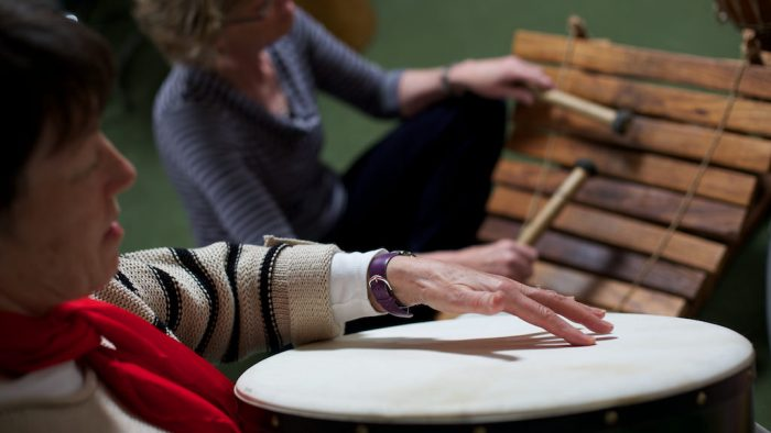 Rowcroft Hospice - Music Therapy - Drum Close Up