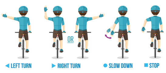 Ride for Rowcroft Hand Signals